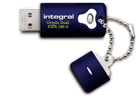 Integral Crypto Dual (+) FIPS 140-2 Secure USB2.0 4GB - 128GB